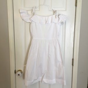 Crewcuts off the shoulder white dress SZ 16